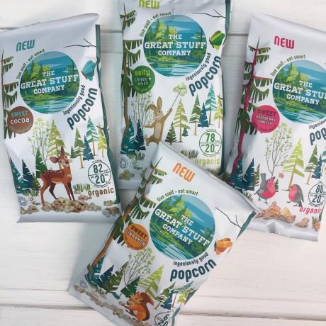 Organic Popcorn - Sweet Cinnamon (20 Bags)
