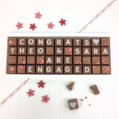 cocoapod personalised you are engaged chocolate
