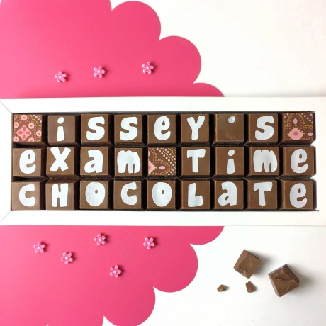 cocoapod personalised exam time chocolate