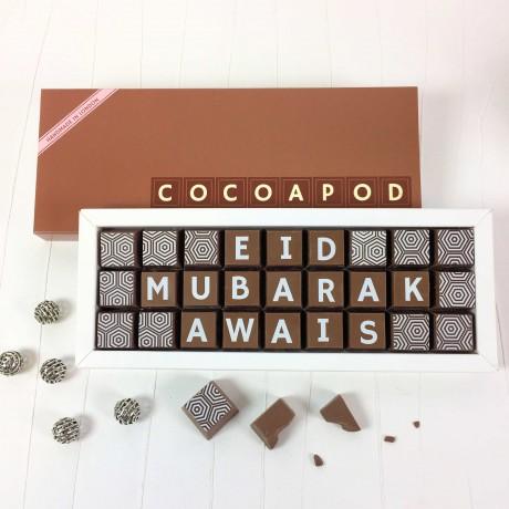 cocoapod personalised eid chocolates