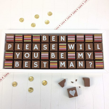 cocoapod please will you be my best man chocolates