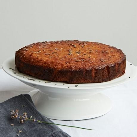 Lemon & Polenta Cake with Lavender Syrup (Dairy, Gluten & Refined Sugar Free)