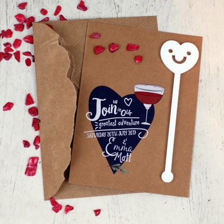 Personalised Save the Date Greatest Adventure Cocktail Stirrers