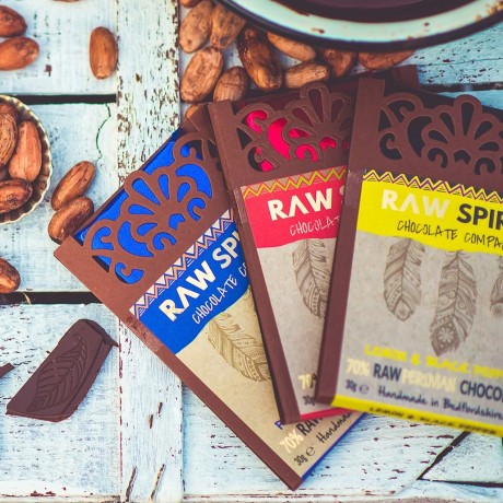 Raw Peruvian Chocolate Bars Selection