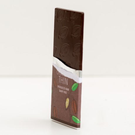 Raw 68% Cacao THIN Chocolate Bars - Organic, Fairtrade