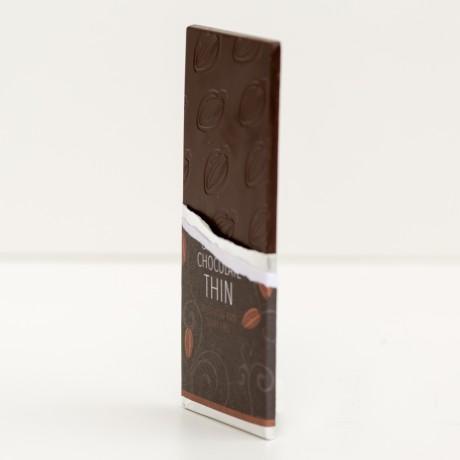 80% Cacao Raw THIN Chocolate Bars - Organic, Fairtrade