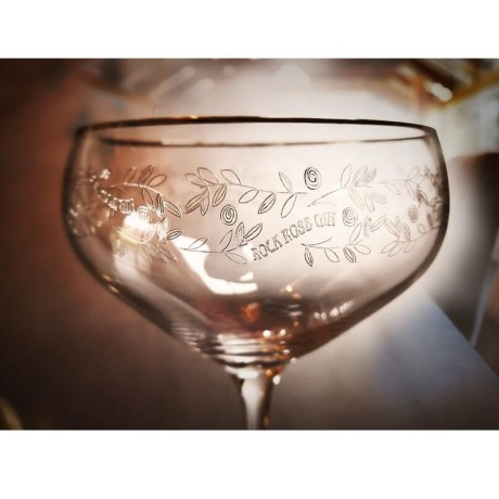 Rock Rose Gin glass