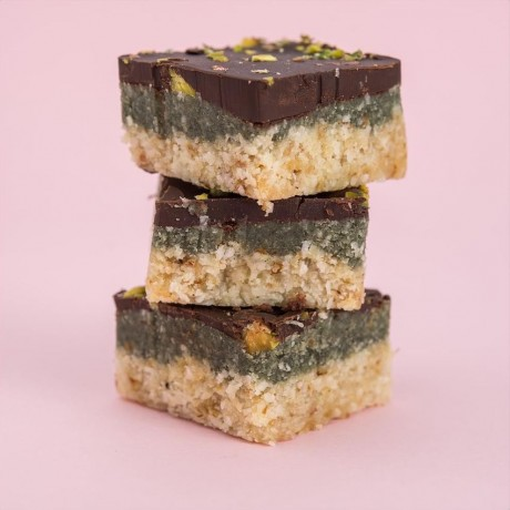 Raw Dark Chocolate Slice with Mint and Greens (6-12 Pack)