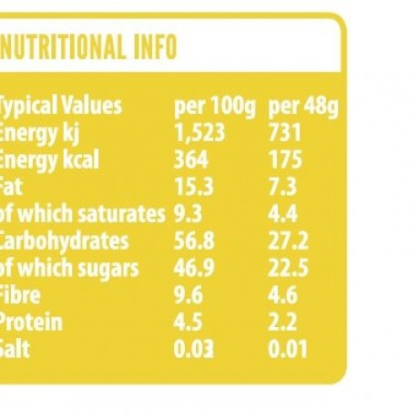 Pineapple & Baobab Nutritional Information