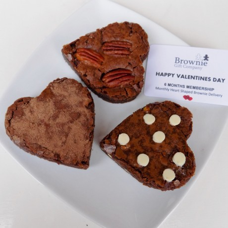 Valentines Monthly Heart Brownie Club (from 3 months)
