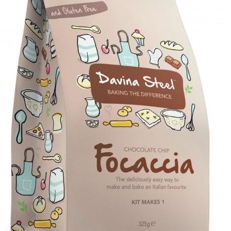 Davina Steel - Choc Chip Focaccia - 300 gms