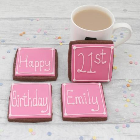 Personalised milestone birthday cookies