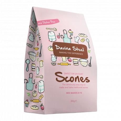 Davina Steel - Scone Mix - 300 gms - makes 8-10 Scones