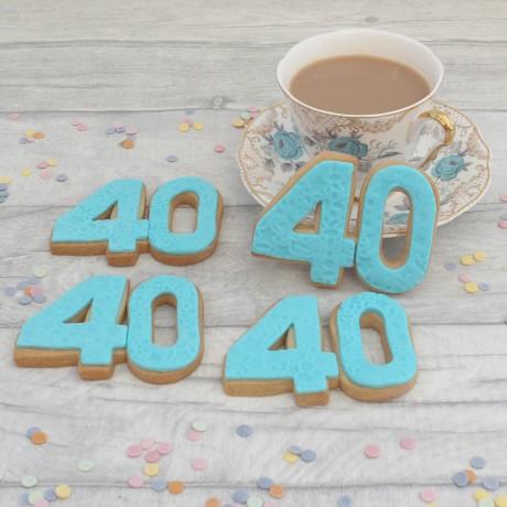Milestone double digit cookies