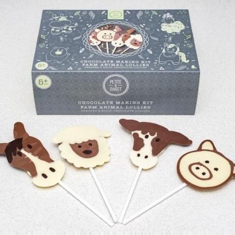 Farm Animal Chocolate Lolly Kit