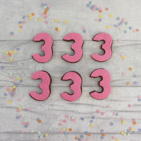 Number birthday cookie favours