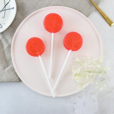 Alcoholic Raspberry Mojito Rum Lollipops