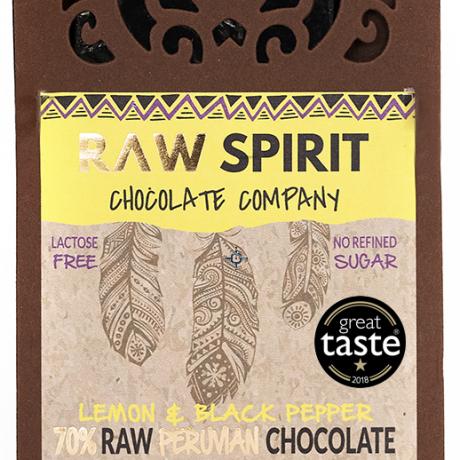 Lemon & Black Pepper Raw Peruvian Chocolate Bars