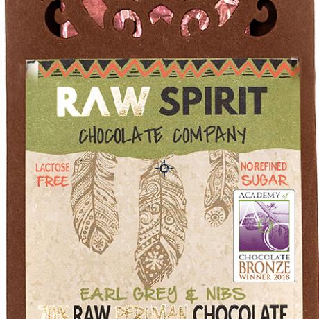 Earl Grey & Nibs Raw Peruvian Chocolate Bars