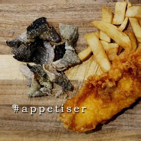 Salmon Fish Crackling - Salt & Pepper Flavour