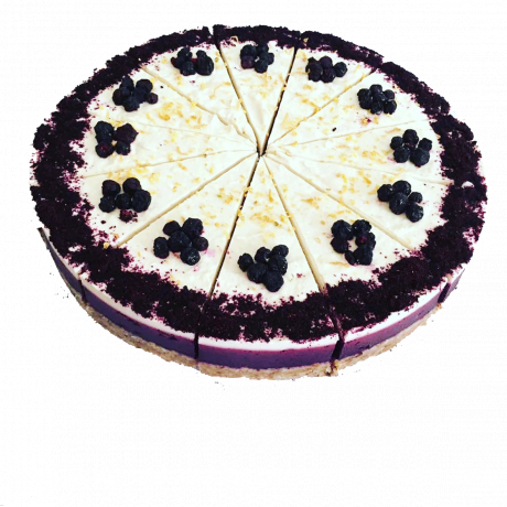 Lemon Blueberry Raw Cake