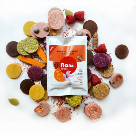 NEW Nono Cocoa Chocolate Snacks - ORANGE, SAFFRON & TURMERIC
