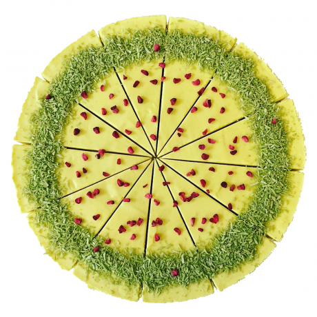 Matcha & Pineapple Raw Cake