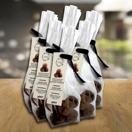 Cacao-dusted Chocolate & Hazelnut Truffles 100g