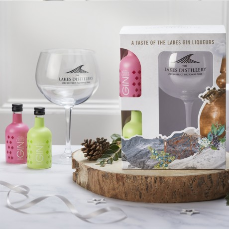 Lakes Gin And Gin Liqueur Mixed Miniature Gift Pack