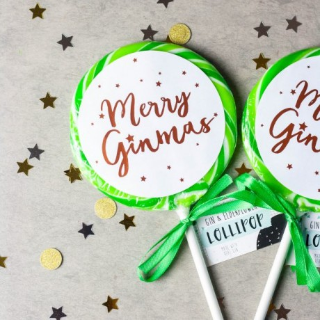 Merry Ginmas Giant Gin Lollipop