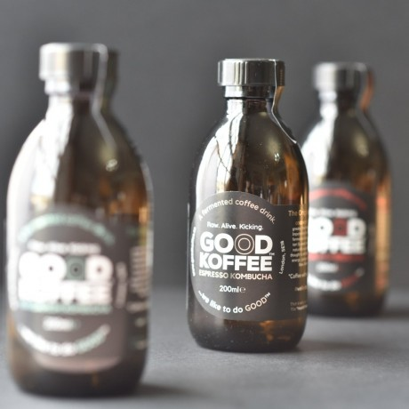 Full range of GOOD KOFFEE Kombucha