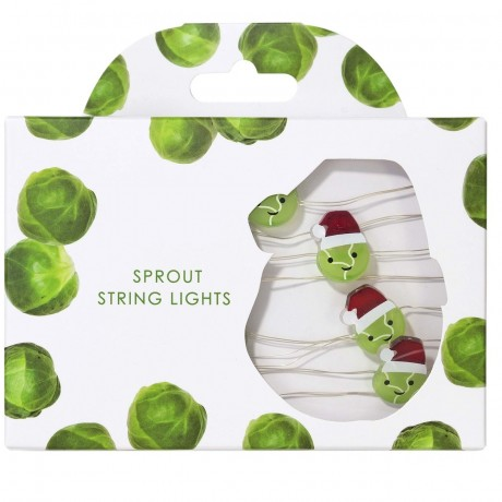 christmas sprouts fairy lights