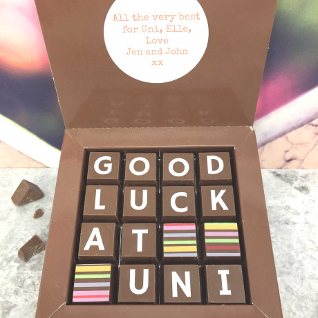 cocoapod going to uni good luck chocolates