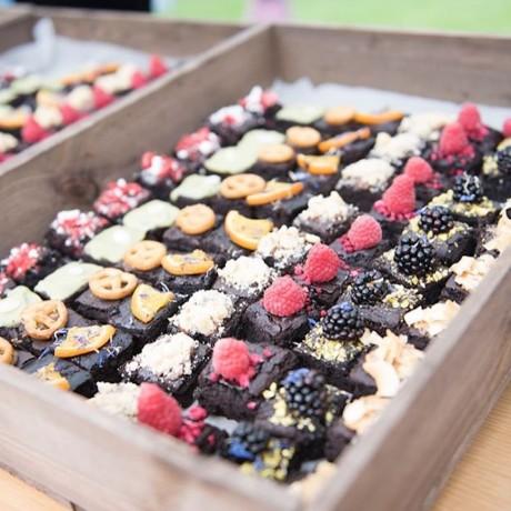 Crate of Vegan Brownies