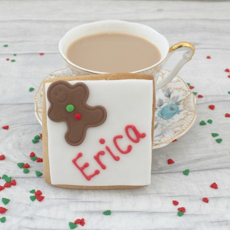 Gingerbread men themed edible place setting cards