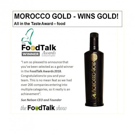 Morocco Gold EVOO wins gold award
