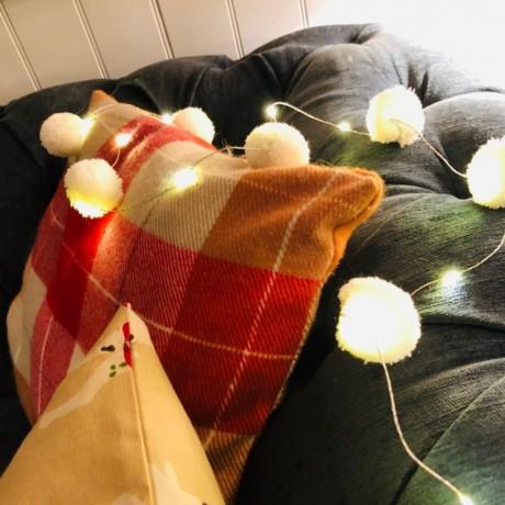 snowball pom pom fairy lights