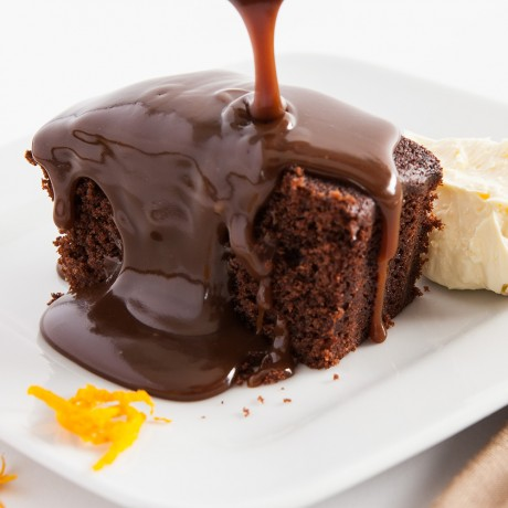 Sticky Orange Chocolate Sponge Pudding