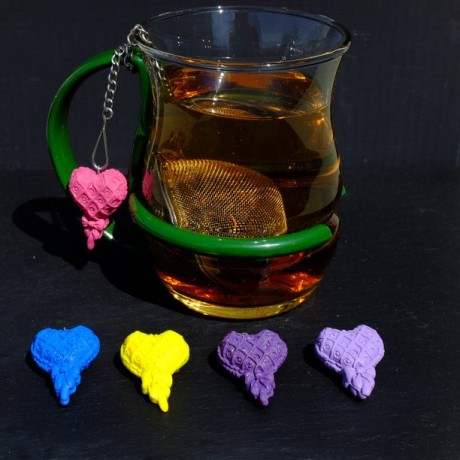 Heart Mesh ball tea infuser