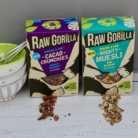Vegan Raw Cacao Crunch Breakfast Granola