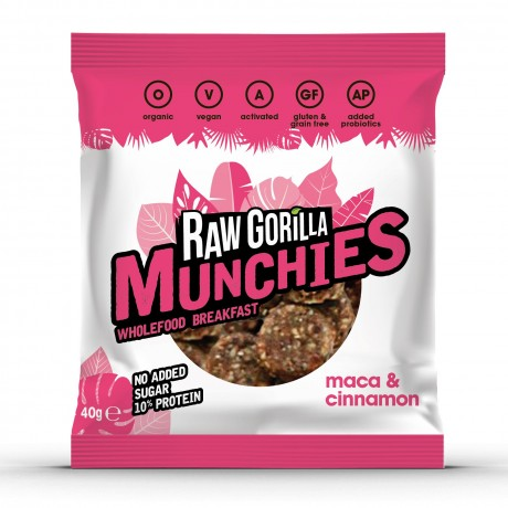 Vegan Raw Maca & Cinnamon Munchies Snacks Multipack