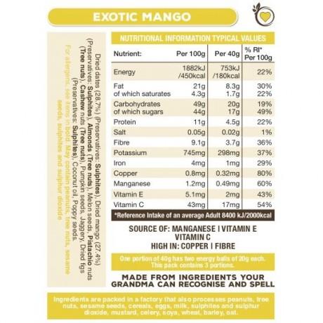 Exotic Mango Superfood Energy Balls