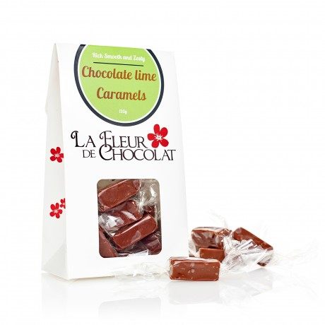 Chocolate and lime caramels