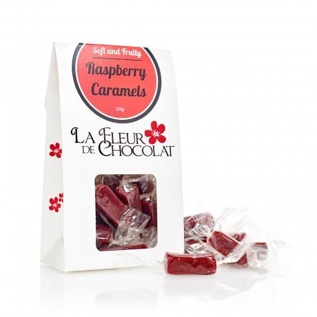 Raspberry caramels