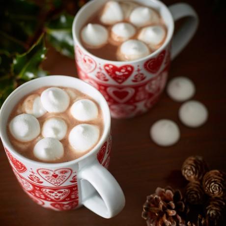 Hot chocolate santa