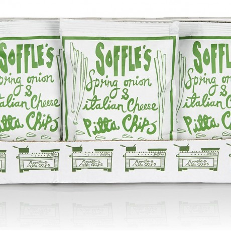 Spring Onion and Cheese Pitta Chips