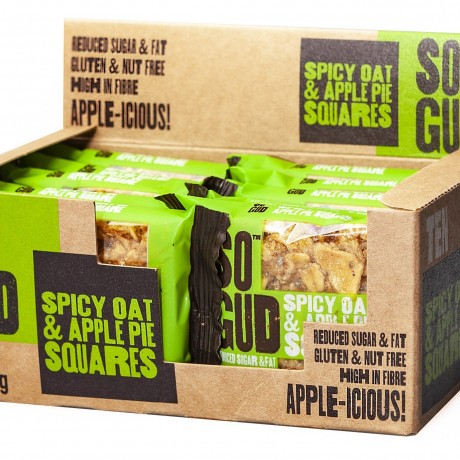 Spicy Oat and Apple Pie Square