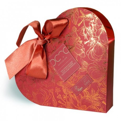 Dark Chocolate Heart filled with Almonds coated in Dark Chocolate 400g