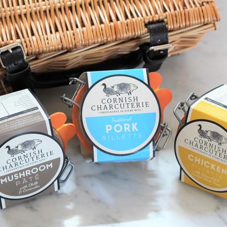 Set of Three Artisan Pâté and Rillettes