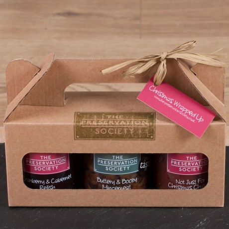 Christmas Wrapped Up Preserves Trio Gift Box